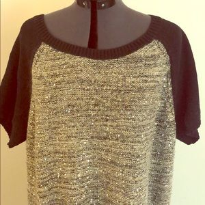 Style &Co plus size black and gold sweater dress